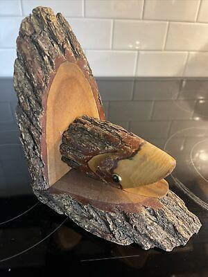 £15.61 • Buy Chainsaw Carving  Trout Art Hand Carved Fish Fishing Fly Cabin Book End