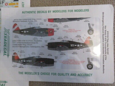 £5 • Buy 1/72 Model Aircraft Decals Xtradecal Set X72153 For Multiple P-47D Thunderbolt A
