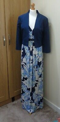 £22 • Buy New Ith Tags Debut Navy Blue Jacket And Bhs Maxi Dress Size 18