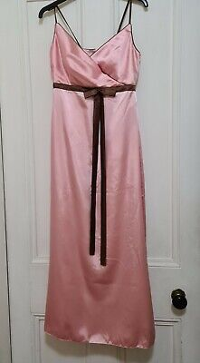 £8.99 • Buy Pink Evening Ball Gown Prom Dress Satin Size 10