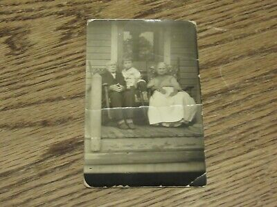 $5 • Buy Looks Like Grand Ma & Paw With Grand Child On Front Porch Postcard (HWBS)