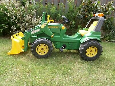 £100 • Buy John Deere Rolly Toys Children's Pedal 7930 Tractor & Front Loader Ride On 3+