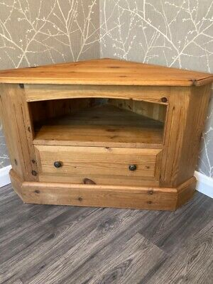 £10 • Buy Quality Solid Pine Corner Tv Unit With Drawer.