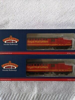 £26 • Buy Oo Gauge Bachmann BR  MK1 ROYAL MAIL COACHES X2 NEW BOXED