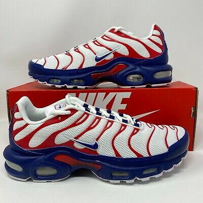 $139.97 • Buy Nike Air Max Plus TN Tuned USA OLYMPIC WHITE RED BLUE CZ9167-100 Retro Running