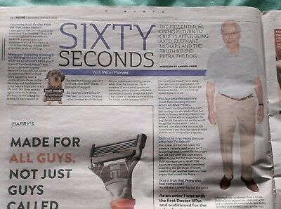 £0.25 • Buy 60 Seconds With Peter Purves: Metro Newspaper - 5th March 2020