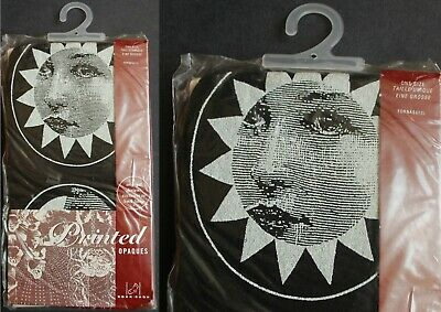 £9.99 • Buy Sock Shop Black FORNASETTI Printed Opaque Tights - New In Unopened Packet