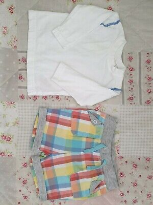 £1.50 • Buy ♡♡ Blue Zoo Boys Shorts & Top Age 3-6 Months, Excellent Condition ♡♡