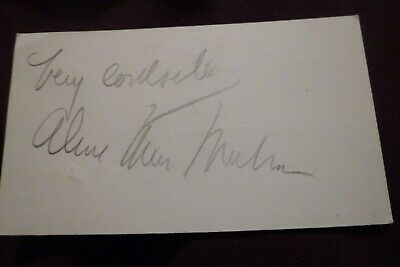 £4.99 • Buy Vintage Hollywood 1940's UNKNOWN CELEBRITY Hand Signed Card