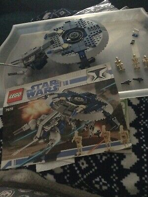 AU6.64 • Buy LEGO Star Wars Droid Gunship (7678) Complete With Figures Instructions