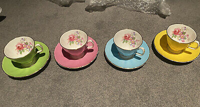 £27.99 • Buy Four  Adderley Bone China Tea Cups And Saucers