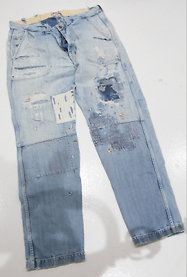 £15 • Buy Prps Mens Distressed Jeans 38w 34l Patched