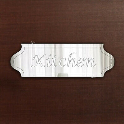 £7.99 • Buy Kitchen Door Sign Plaque Signage Acrylic Mirror Office Home FREE Personalisation