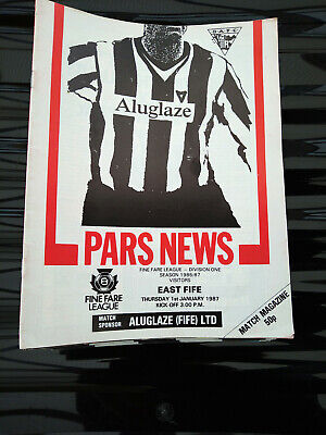 £3.30 • Buy Dunfermline Athletic Home Football Programmes 1974-1999 You Select