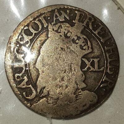 £54 • Buy Scotland King Charles I 40 Pence Silver Coin Sottish Forty 1st First Old Rare UK