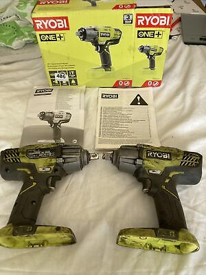 £9.99 • Buy Ryobi One + R181W3-0 Impact Wrench X 2 No Batteries For Spares And Repairs Only