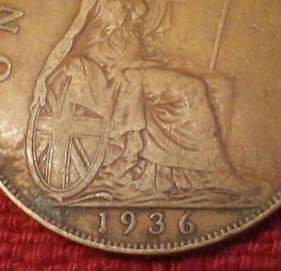 £0.99 • Buy 1936 One PENNY Coin - King George V - 1d One Penny Britannia Pre-decimal Pence