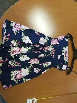 AU5.48 • Buy Teens Size M Strapless Floral Dress By Rue 21