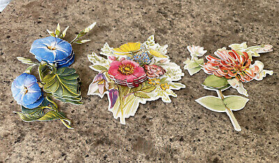£1.20 • Buy    Card Decoupage Toppers Flowers 3