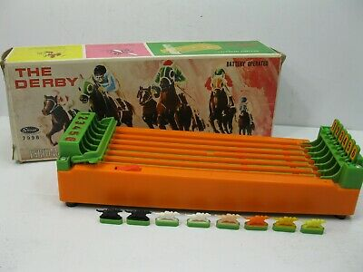 £43.42 • Buy Vintage The Derby Horse Racing Game BANDAI With Box  8 Horses WORKS! See Video