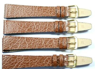 £5.25 • Buy 4 X Brown 20mm Genuine Leather Watch Straps Retirement Sale Job Lot Value £35.96