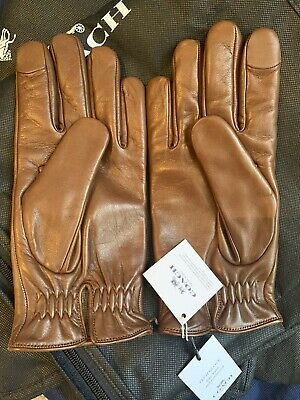 $83.85 • Buy Original With Tags Coach Tech Napa Gloves Size S Men's Saddle Brown