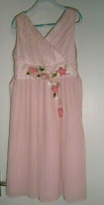 £13.99 • Buy MONSOON Pink Flower Girl Bridesmaid Party Occasion Dress 7-8 £50 WORN ONCE