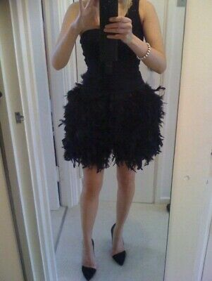 £29.99 • Buy Real Full Ostrich Feather TOWIE Party Mini Skirt RRP £100