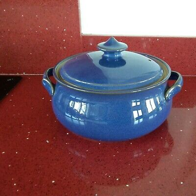 £29.99 • Buy Vintage Denby Imperial Blue Lidded Casserole Dish 3 Pint Capacity.Good Condition