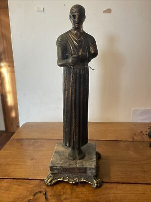 £10 • Buy Greek Charioteer Of Delphi Bronze Ornament Statue On Marble Base