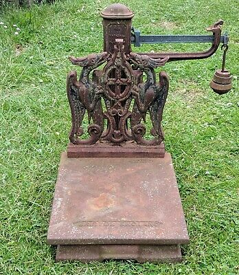 £85 • Buy  Cast Iron Platform Scales Grain Sack Parnall And Sons Garden Ornament