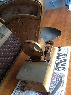 £60 • Buy Large Double Sided Vintage W & T Avery Sweet Shop Scales Gold Antique Rare