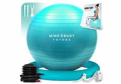 £34.49 • Buy Exercise Ball Chair 55cm Yoga Ball & Stability Ring. For Pregnancy, Balance, Pil