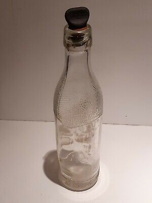 £10 • Buy Vintage S.C.W.S Aerated Water Clear Glasgow Glass Soda Bottle