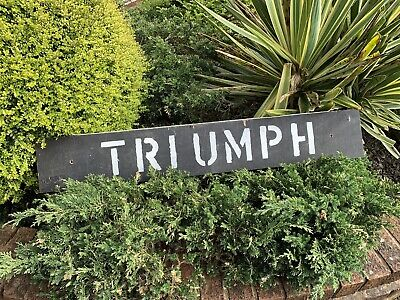 £35 • Buy Vintage Hand Painted Triumph Sign