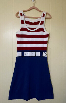 $59.95 • Buy Vintage Betsey Johnson Red Blue White July 4th Dress M