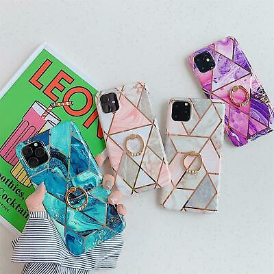 AU4.89 • Buy Marble Phone Case Finger Ring For IPhone 13 12 11 Pro Max XS Max XR X 8 7 Plus