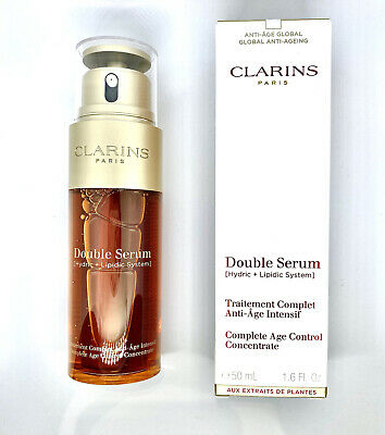 £59.99 • Buy 100% GENUINE CLARINS Double Serum Age Control Concentrate 50ml. FREE P&P