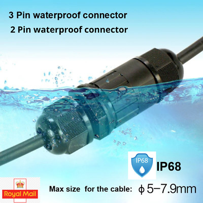 £3.49 • Buy IP68 Waterproof Junction Box Case/Electrical Cable Wire Connector Outdoor 240V