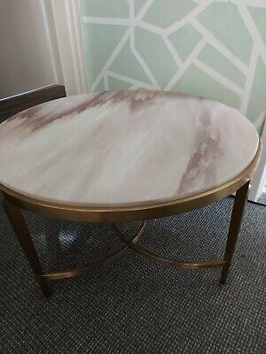 £311 • Buy NEW Coffee Table Marble Top Gold Frame