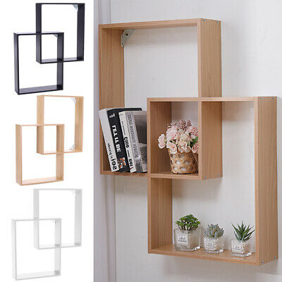 £19.99 • Buy Multi Compartments Display Wall Floating Shelf Wall Cube Shelves Home Decor NEW