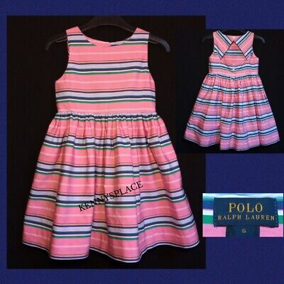 £16.99 • Buy POLO Ralph Lauren Dress Candy Stripe Cotton AGE 6yrs *EXCELLENT COND* Summer