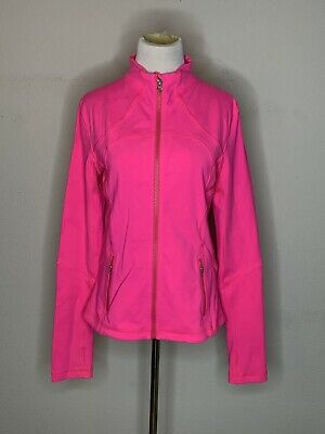 $ CDN30.39 • Buy Lululemon Forme Womens Full Zip Fitted Jacket Pink Size 10