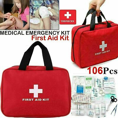 £9.49 • Buy 90 Piece First Aid Kit Medical Emergency Travel Home Car Taxi Work 1st Aid Bag