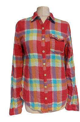 £7.99 • Buy Hollister Womens Shirt Size 12 Pink Mix Checked