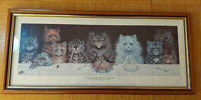 £10 • Buy Louis Wain - What We Are About To Receive - Framed Print
