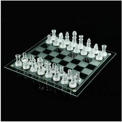 £27.99 • Buy Traditional Chess Set Glass Board Game Beautiful Unique Gift 32 Pieces Party Fun