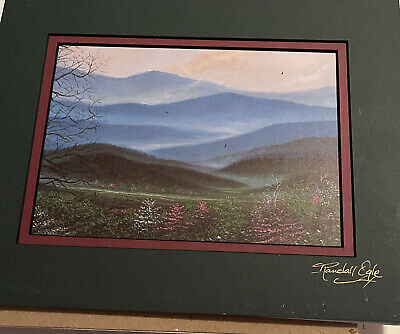 """£8.52 • Buy Randall Ogle Signed Art Picture Matted, """"Smoky Mt Spring"""""""