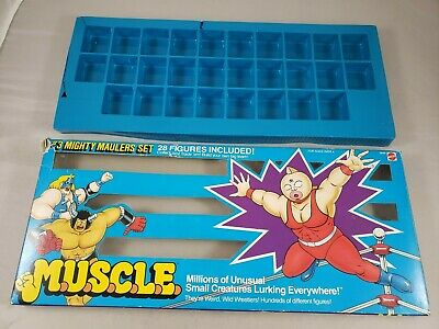$49.95 • Buy Vintage M.u.s.c.l.e. Muscle Men Mighty Maulers Set --  Box Only With Tray