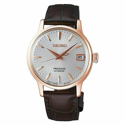 $ CDN401.94 • Buy SEIKO Presage SRP852J1 Automatic Cocktail Japan Made Rose Gold Ladies Leather
